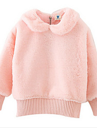 Girl's Pink Down & Cotton Padded Cotton Winter