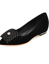 Women's Shoes Fleece Flat Heel Comfort Inner Height Increasing/ Pointed Toe Flats Office & Career / Dress /