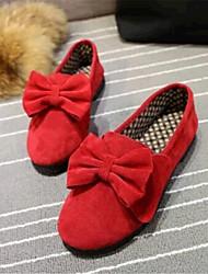 Черный / Красный / Бежевый-Женская обувь-Для прогулок / На каждый день-Флис-На плоской подошве-Удобная обувь-Обувь на плоской подошве