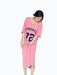 Feminino Pajama Média Algodão Feminino