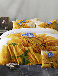 Betterhome  4 Piece Pure Cotton Unique 3D Definition Stereoscopic Flowers Print Bedding  Duvet Cover Sets