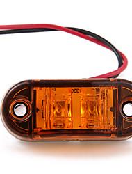 5 x orange led jaune voiture côté indicateur de marqueur lampe lumière camion remorque caravane