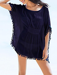 Women's Western Style Loose Batwing Sleeve Cover-Ups , Polyester/Chiffon