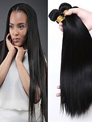 cabelo virgem brasileira barato retas humanos cabelo 3 feixes cabelos lisos 8'-30 'polegadas pretas naturais