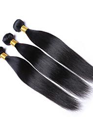 "Cheap Price 1Pcs /Lot 50g 8""-26""Brazilian Virgin Straight Hair Wefts Natural Black 1B# Human Hair Bundles"