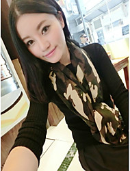 Army Green Camouflage Cotton Spring And Summer Long Paragraph Oversized  Couple Scarves Shawls