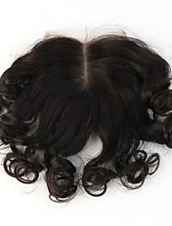 Bouclé Cheveux humains Fermeture Brun roux gramme Cap Taille