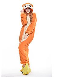 kigurumi Pyjamas New Cosplay® Singe Collant/Combinaison Fête / Célébration Pyjamas Animale Halloween Orange Mosaïque Polaire Kigurumi Pour