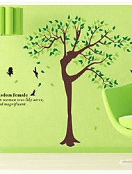 Elegant Beautiful Tree Wall Stickers Decorative Personalized Art Mural Stickers Transparent Pvc
