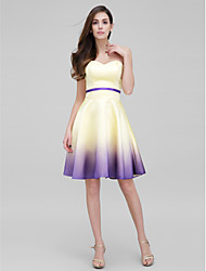 TS Couture® Cocktail Party Dress - Color Gradient A-line Sweetheart Knee-length Satin with
