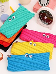 Creative Stationery Contracted Lovely Big Capacity Small Monster Zipper Bag