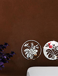 3D Flowers Mirror Wall Stickers