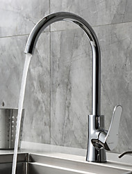 Deck Mounted Single Handle Kitchen Faucet Chrome Finish