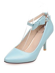 Women's Shoes Stiletto Heel /Pointed Toe Bowknot Party & Evening/Dress Blue/Pink/Beige