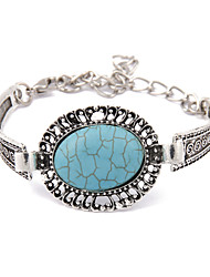 European And American Vintage Lace Oval Turquoise Bracelet