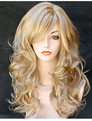 Popular! Top Quality Blonde Wig Color Long Curly Synthetic Wigs
