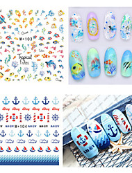 1pcs Fresh Nail Watermark Sticker102-109