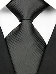 Gestreept-Stropdas(Zwart,Polyester)