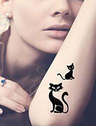 5 Tatouages Autocollants Séries animales Dessins Animés Dessin-AniméHomme Femme Adulte Adolescent Tatouage TemporaireTatouages