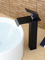 Zeitgenössisch Mittellage Einhand Ein Loch with Bronze mit Ölschliff Waschbecken Wasserhahn