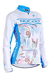 Nuckily Cycling Jacket Women's Long Sleeve Bike Jersey Jacket TopsWaterproof Thermal / Warm Windproof Anatomic Design Fleece Lining