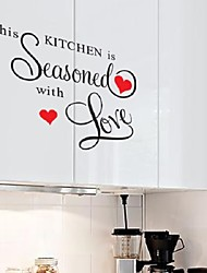 New Wall Sticker This Kitchen Is Seasoned With Love Wall Saying Sticker Home Kitchen Decor