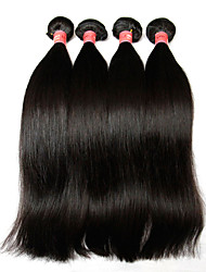 "3Pcs Lot 8""-28"" Brazilian Virgin Hair Straight Natural Black Human Hair Weave Bundles Shed & Tangle Free Hair Extensions"
