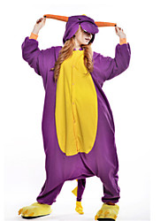kigurumi Pyjamas New Cosplay® Dragon Dinosaure Collant/Combinaison Fête / Célébration Pyjamas Animale Halloween Violet Mosaïque Polaire