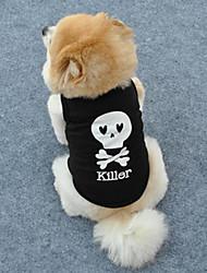 Classic Comfortable Skull Pet T-shirt