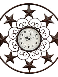 E-HOME® Metal Wall Art Wall Decor,Star Pattern Metal Wall Clock One PCS