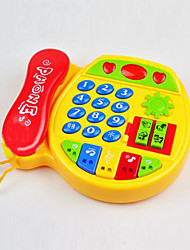 Telephone Shape Plastic Red / Yellow Music Toy For Kids