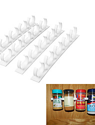 Spice Organizer Rack Cabinet Door Clips Bottles Wall Mount Kitchen Cook Tools