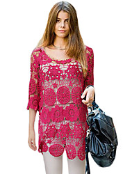 Women's Sexy Patchwork Tunic Dress,Round Neck Mini Others
