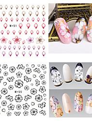 1pcs Fresh Nail Watermark Sticker 51-55