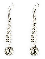 European Style Gold/Silver Ball Earrings Jewelry for Women