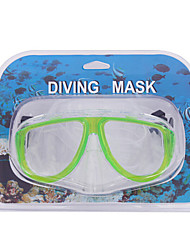 Máscaras de mergulho-Verde-PVC