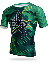 XINTOWN Men Short Sleeve Cycling Sports T-shirt Tight Breathable Quick Dry Tops