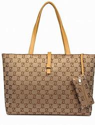 Fashion Women PU / Polyester Shopper Shoulder Bag / Tote / Coin Purse-Multi-color