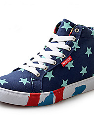 Women's / Men's Walking Shoes Canvas Blue / Red / White