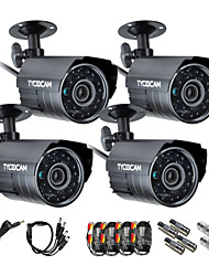 TYCOCAM 4pcs/ Pack Altra Low Price 130Megapixels AHD Waterproof Outdoor and Indoor Security Camera