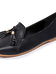 Women's Shoes Leatherette Flat Heel Comfort / Ballerina Flats Office & Career / Work & Duty / Casual Black / White