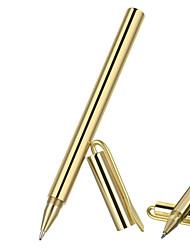 stylo fura extérieur tactique face de miroir de gel de laiton avec clip - or