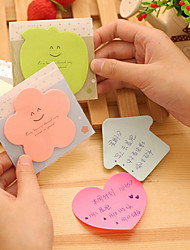 1PC Lovely Candy Color Stickers N Paste Sticky Note Book.