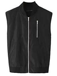 Women's Black Jackets,Simple V Neck Sleeveless
