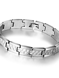 Fashion Men Jewelry Stainless Steel Bracelet and Bangle Silver