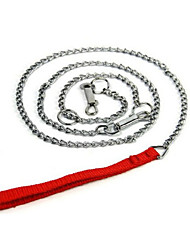 Dog Leash Adjustable/Retractable Solid Silver Alloy