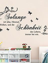Worte & Zitate Wand-Sticker Flugzeug-Wand Sticker,vinyl 44*29cm