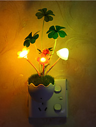 Lovely Flowers Color-changing Smart Light Controlled Emergency LED Night Light for Kids Room Home Decoration
