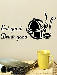 Eat Good Drink Good Kitchen Decor Quote Wall Stickers Art Dining Room Removable Decals Diy