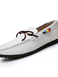 Men's Boat Casual/Party & Evening/Office & Career Fashion Microfiber Leather Shoes Black/White/Brown 39-44